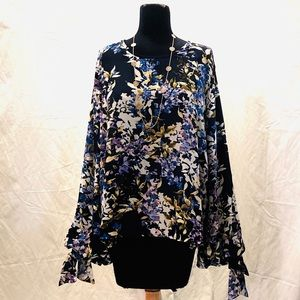 IMAN Floral Blouse NWTs